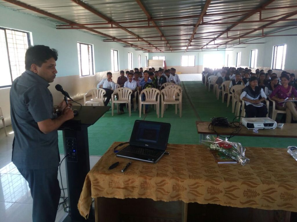 Organized Guest lecture on ' Nano-technology ' of Dr. S.B. Iyyer, Head, Dept. of physics , Ahmednagar College on 25th February 2017