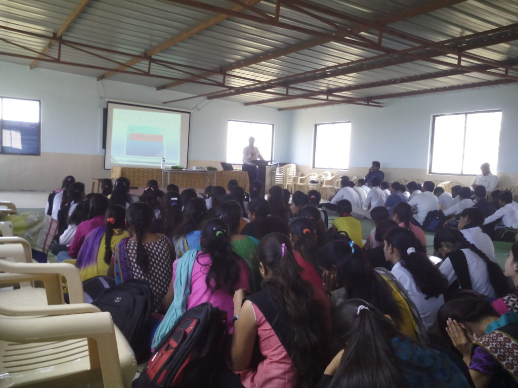 Organized guest lecture of Prof. V.K. Dhas, Ex- Head, Dept. of Physics, New Art's college, Ahmednagar